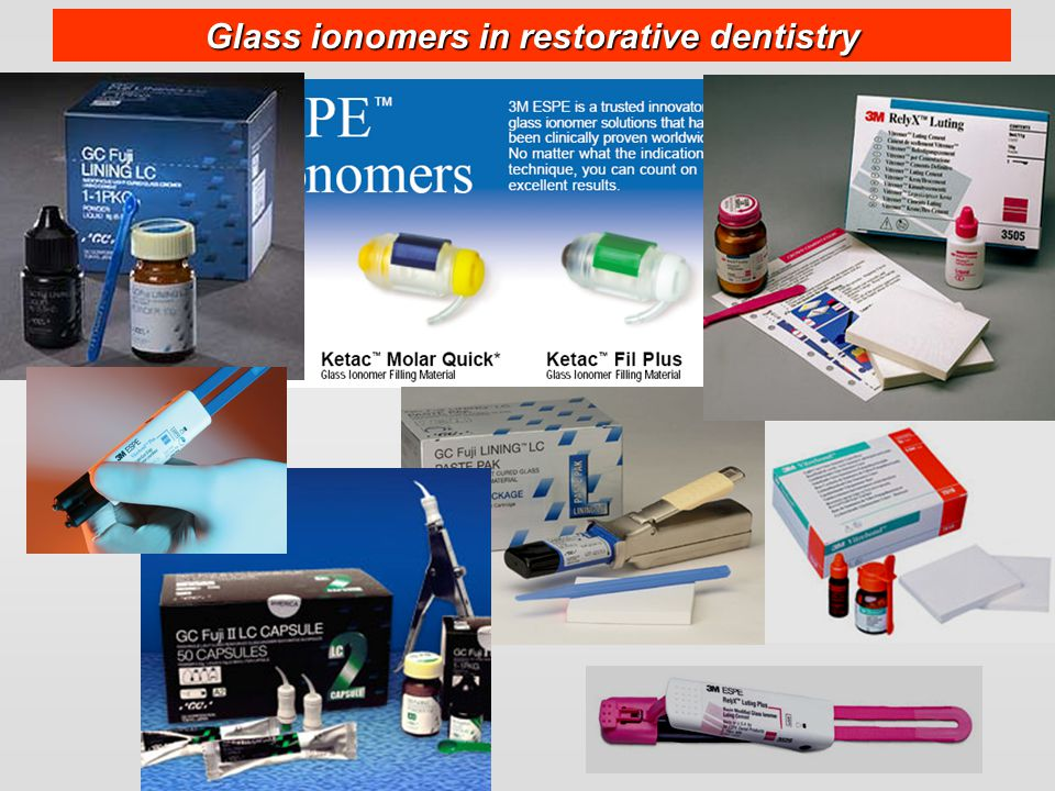 Glass ionomers in restorative dentistry