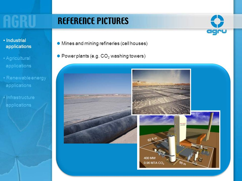 REFERENCE PICTURES Industrial applications
