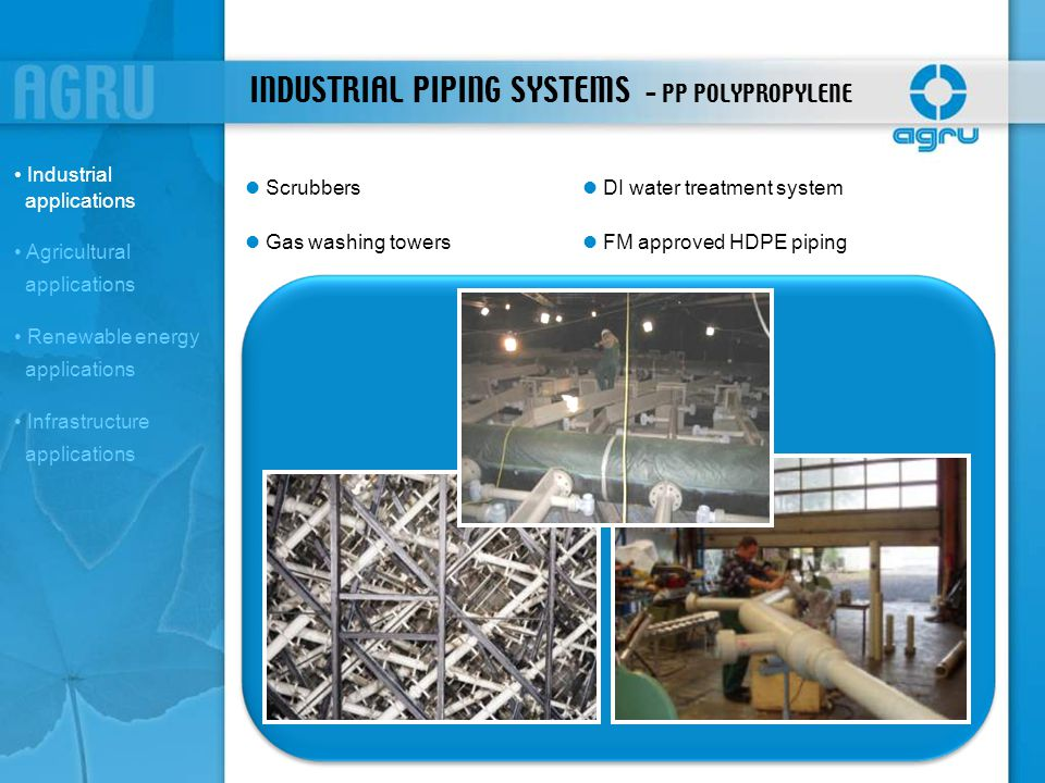INDUSTRIAL PIPING SYSTEMS - PP POLYPROPYLENE