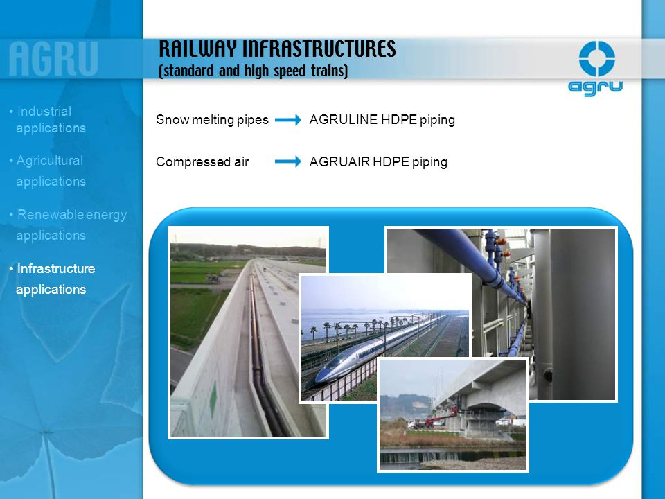 RAILWAY INFRASTRUCTURES (standard and high speed trains)