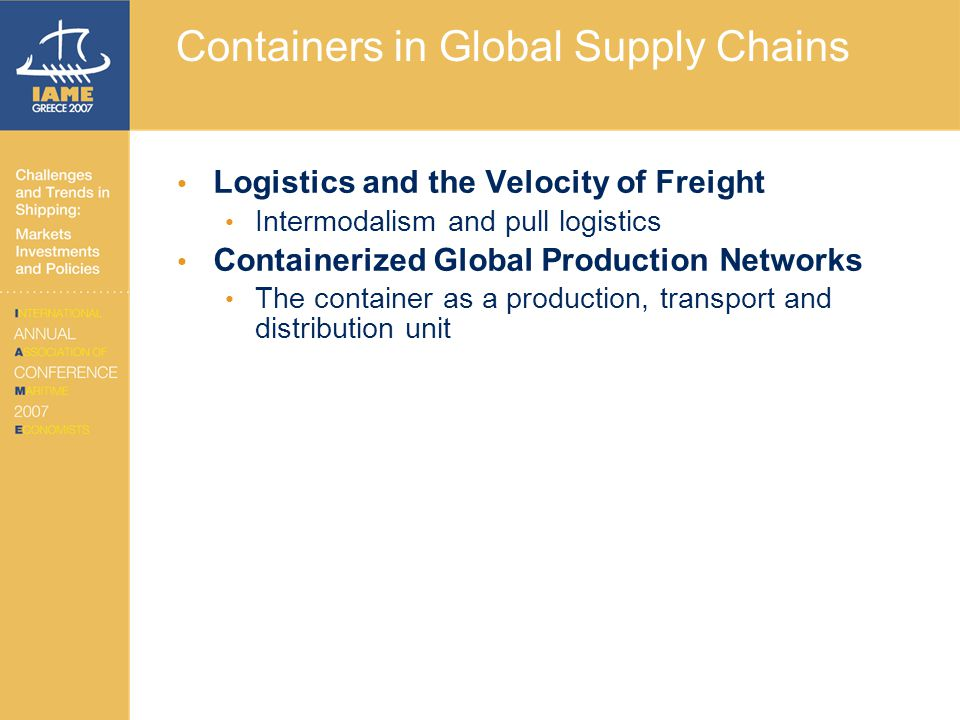 Containers in Global Supply Chains