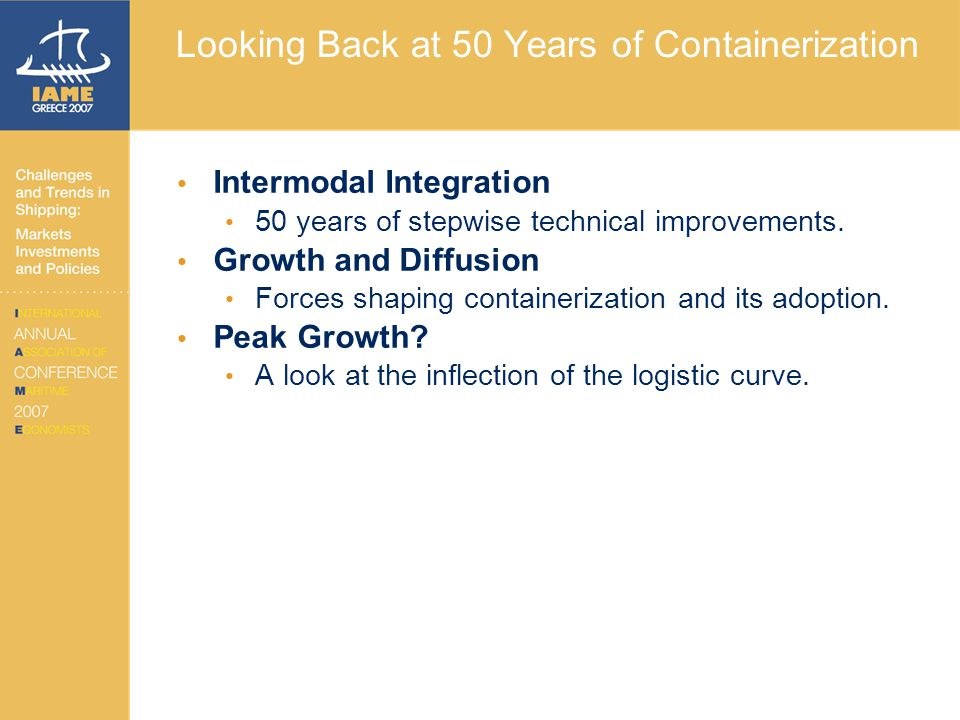 Looking Back at 50 Years of Containerization