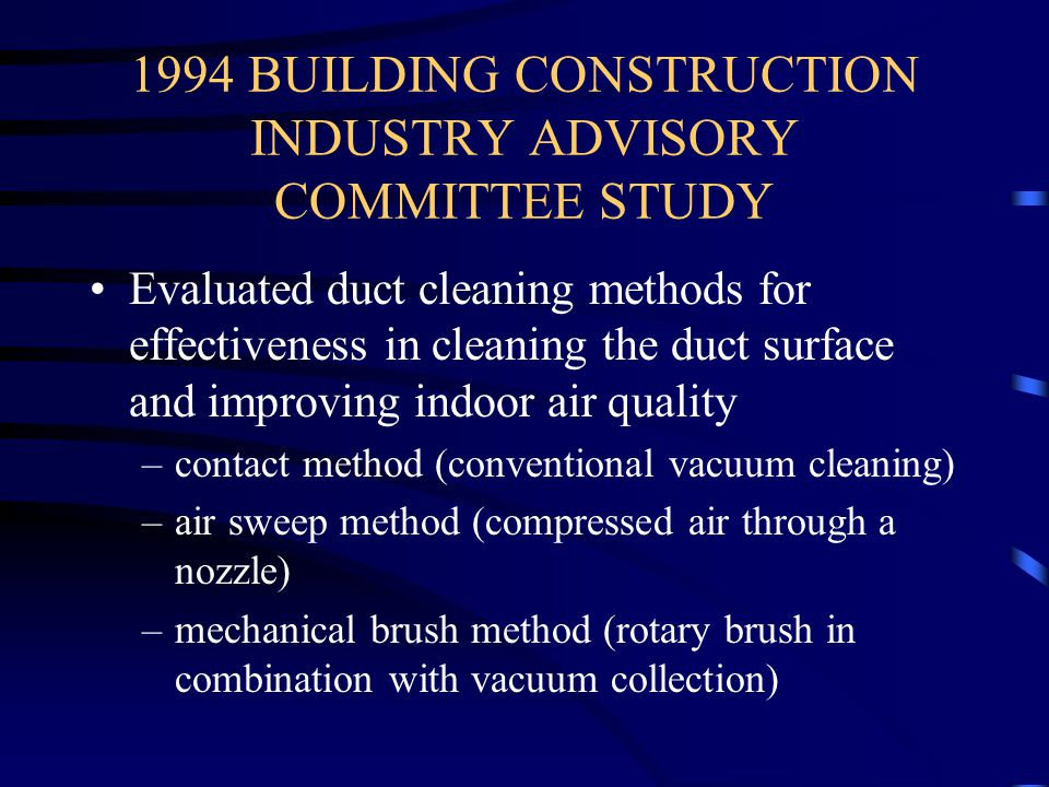 1994 BUILDING CONSTRUCTION INDUSTRY ADVISORY COMMITTEE STUDY