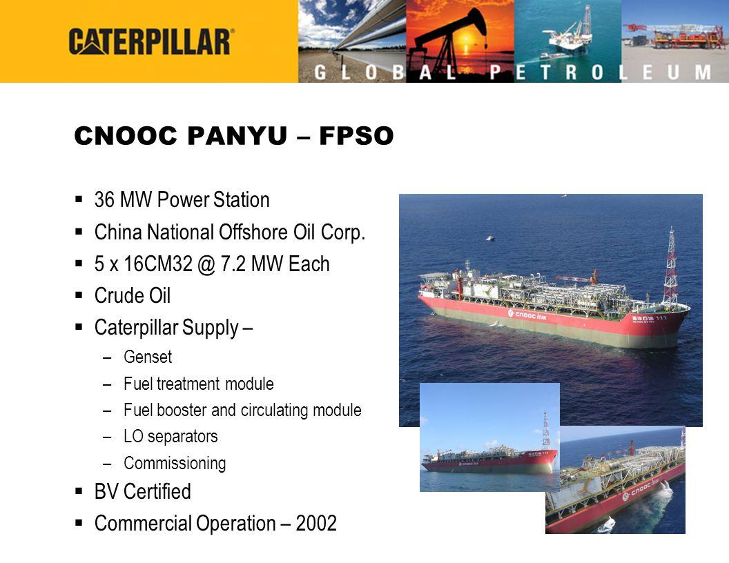 CNOOC PANYU – FPSO 36 MW Power Station