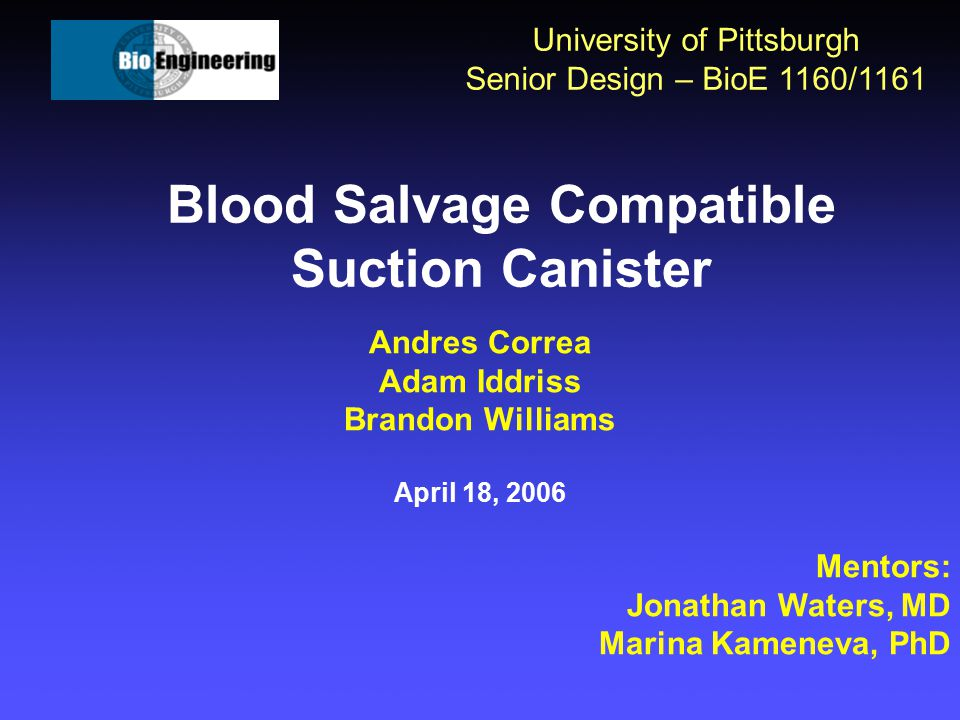 Blood Salvage Compatible Suction Canister