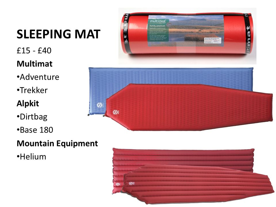 SLEEPING MAT £15 - £40 Multimat Adventure Trekker Alpkit Dirtbag