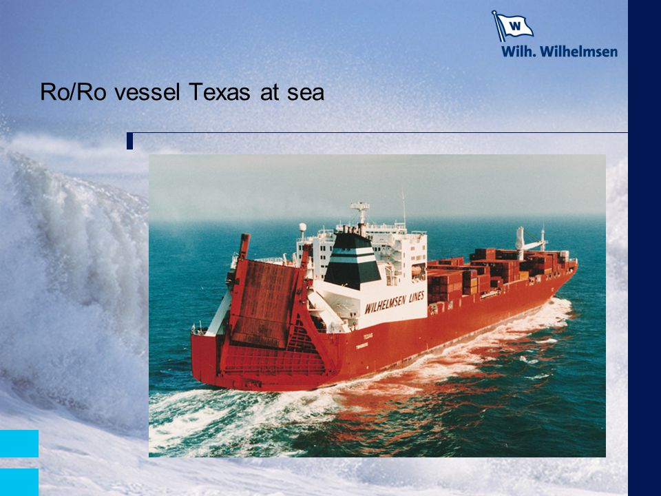 Ro/Ro vessel Texas at sea