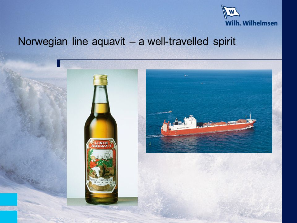 Norwegian line aquavit – a well-travelled spirit