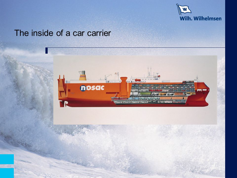 The inside of a car carrier