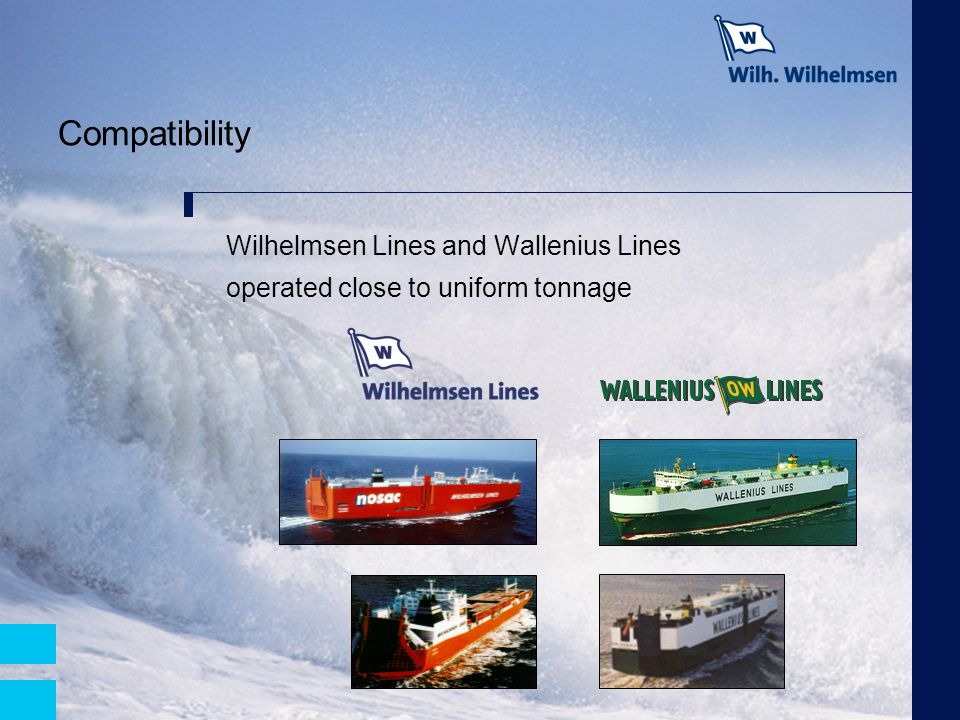 Compatibility Wilhelmsen Lines and Wallenius Lines