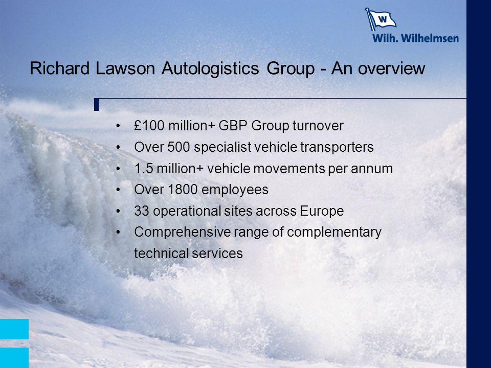 Richard Lawson Autologistics Group - An overview