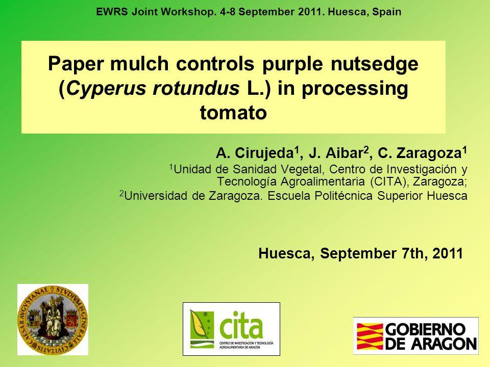 EWRS Joint Workshop. 4-8 September 2011. Huesca, Spain