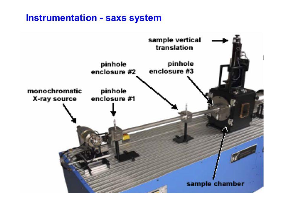 Instrumentation - saxs system