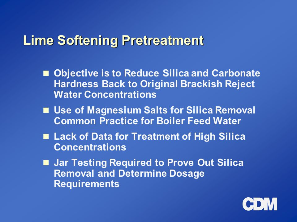 Lime Softening Pretreatment