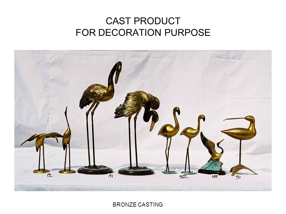 CAST PRODUCT FOR DECORATION PURPOSE
