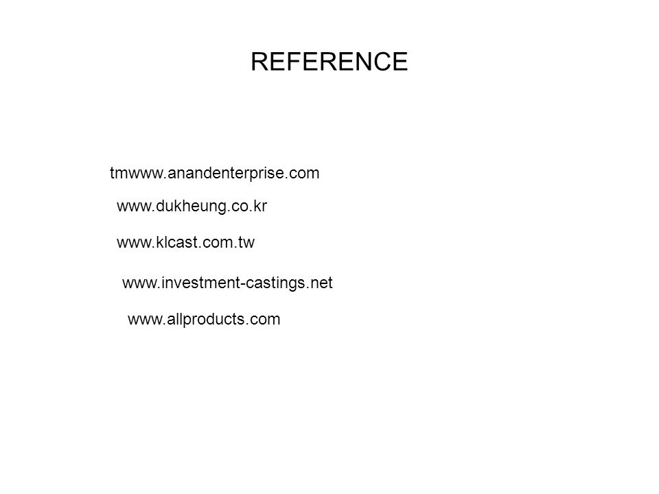 REFERENCE tmwww.anandenterprise.com www.dukheung.co.kr