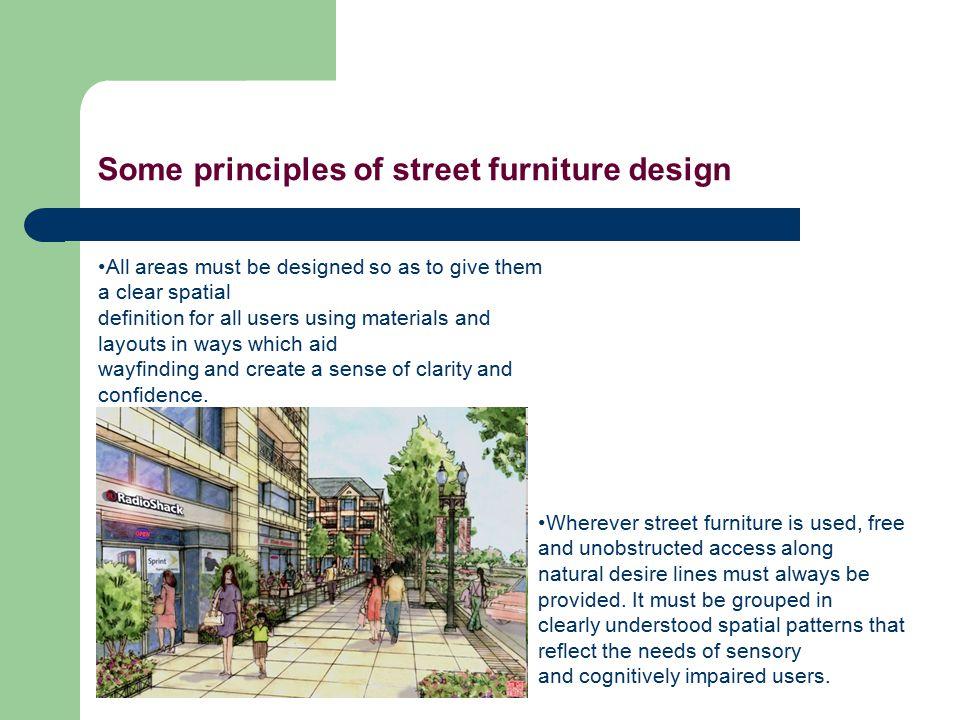 Some principles of street furniture design