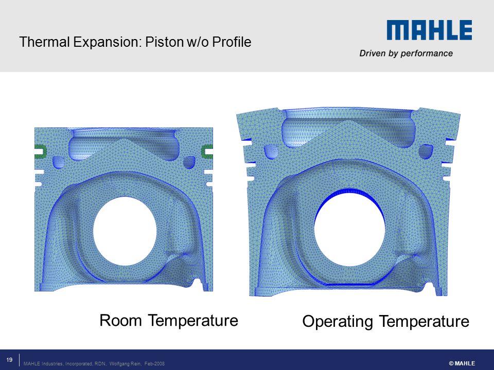 Thermal Expansion: Piston w/o Profile