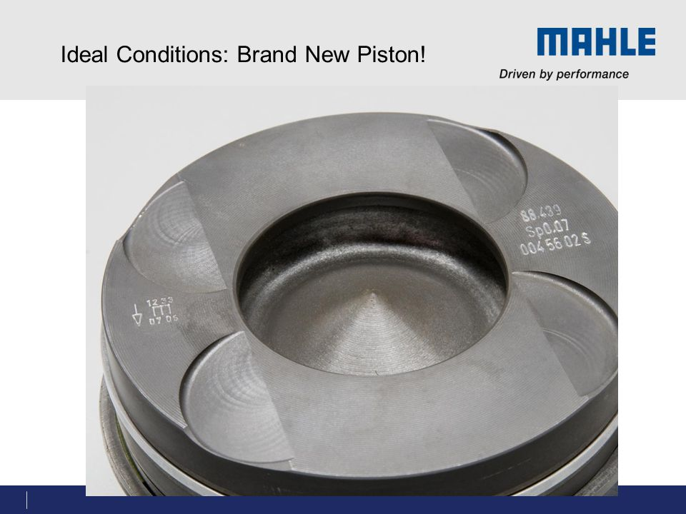 Ideal Conditions: Brand New Piston!