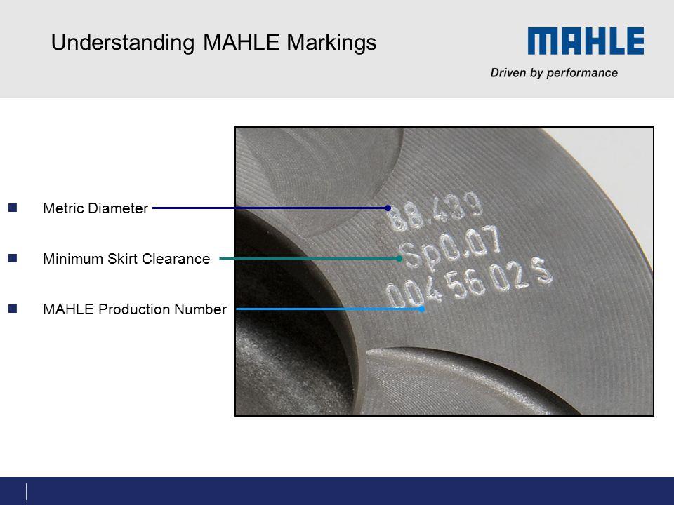 Understanding MAHLE Markings