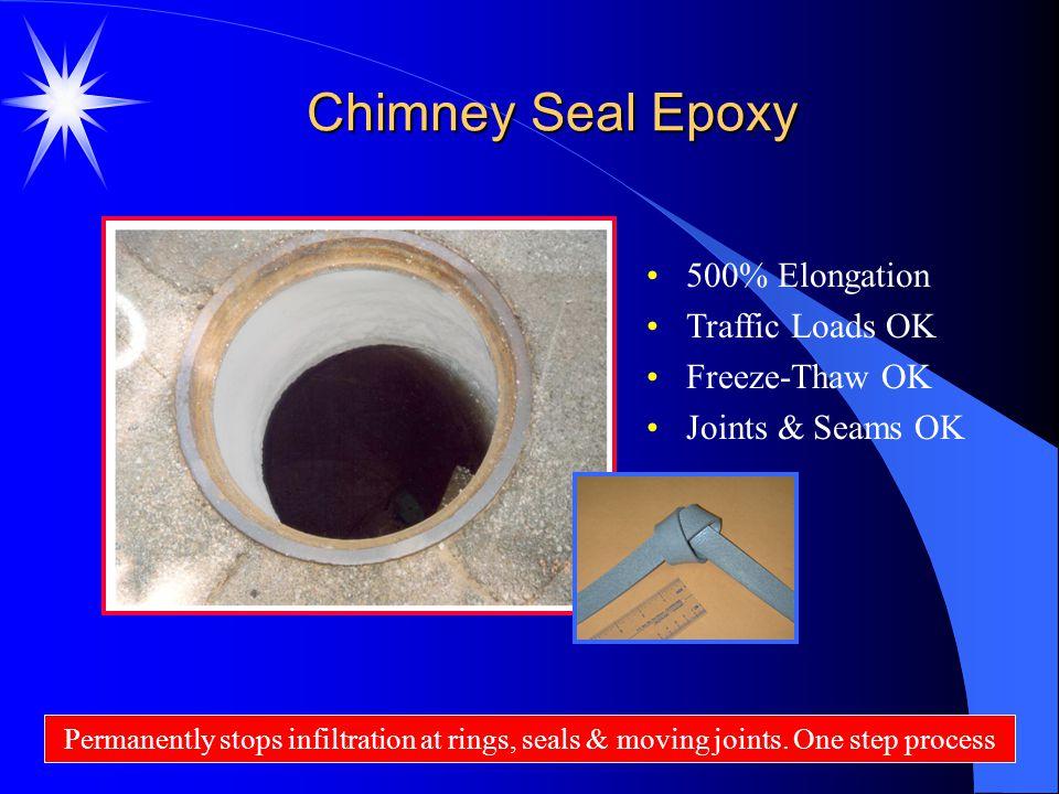 Chimney Seal Epoxy 500% Elongation Traffic Loads OK Freeze-Thaw OK