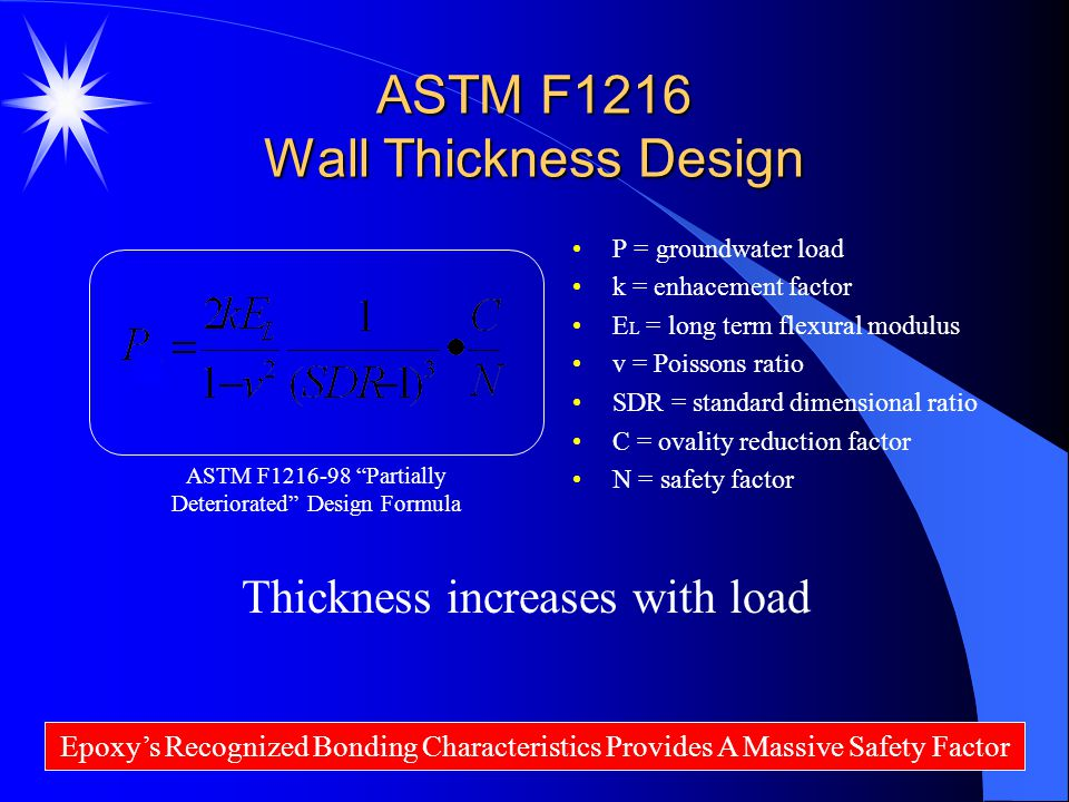 ASTM F1216 Wall Thickness Design