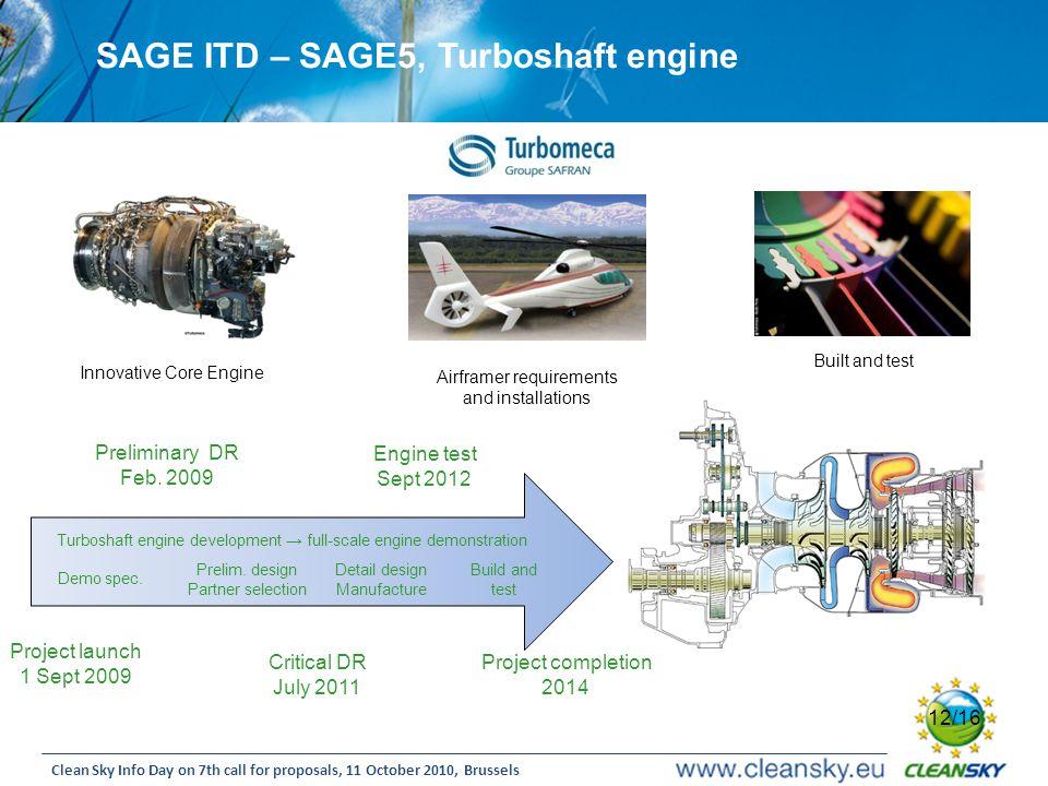 SAGE ITD – SAGE5, Turboshaft engine
