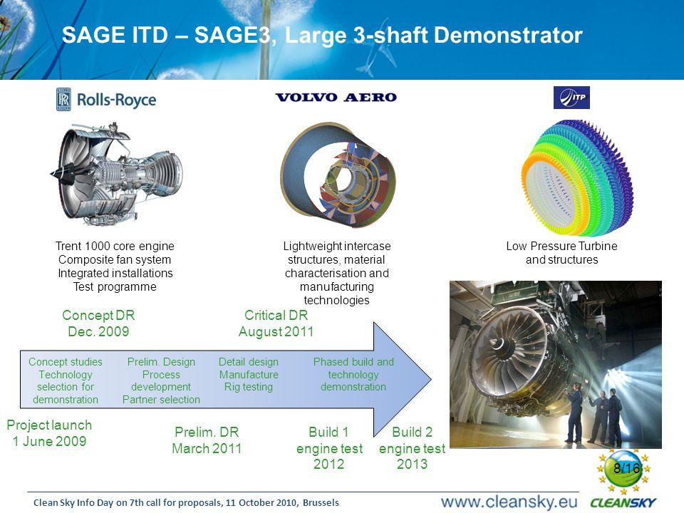 SAGE ITD – SAGE3, Large 3-shaft Demonstrator
