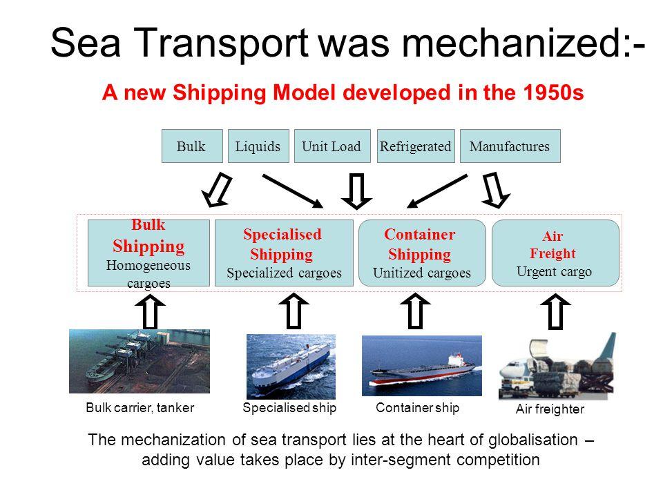 Sea Transport was mechanized:-