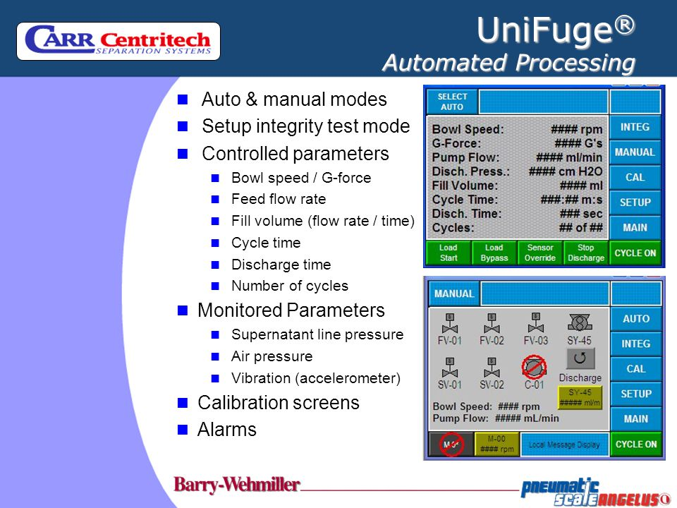 UniFuge® Automated Processing