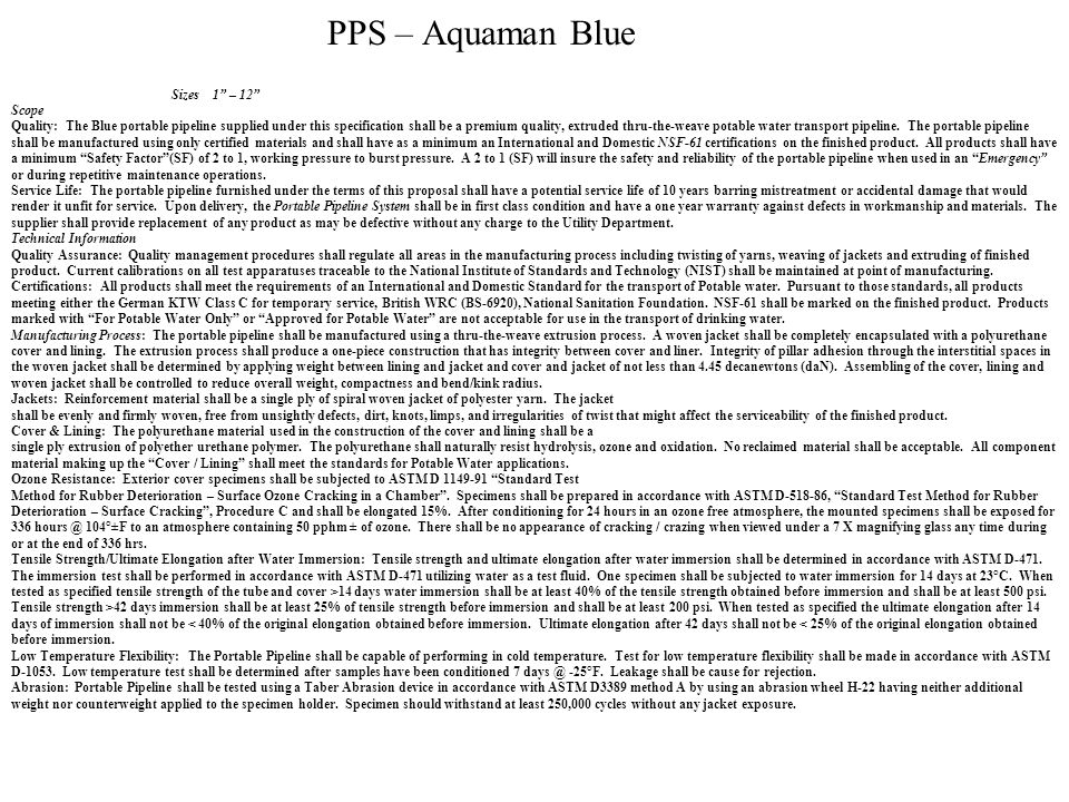 PPS – Aquaman Blue Sizes 1 – 12 Scope