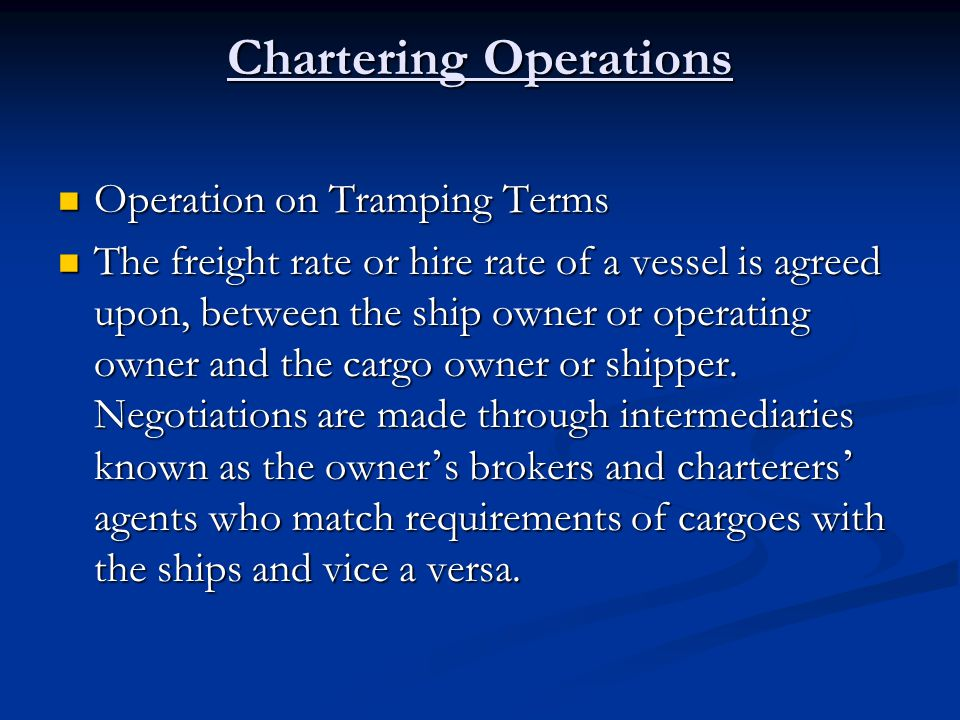 Chartering Operations
