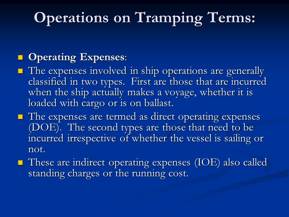 Operations on Tramping Terms: