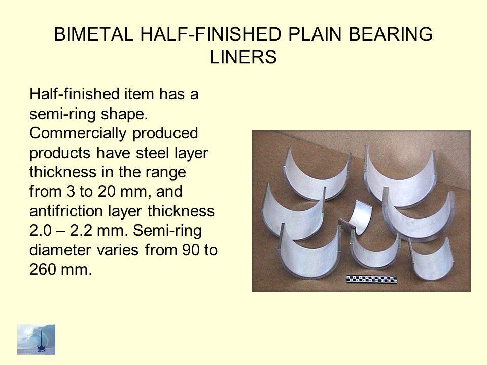 BIMETAL HALF-FINISHED PLAIN BEARING LINERS