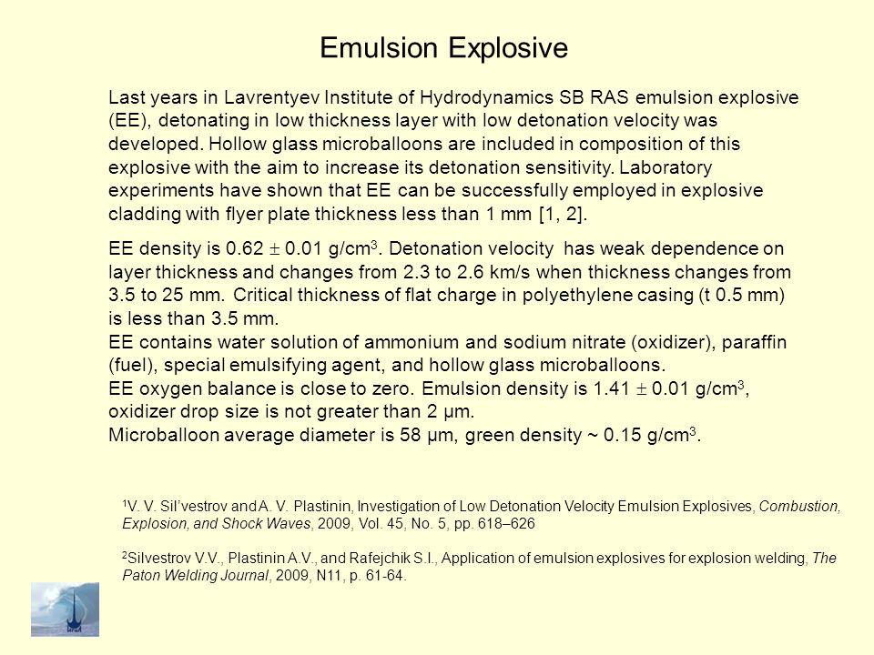 Emulsion Explosive