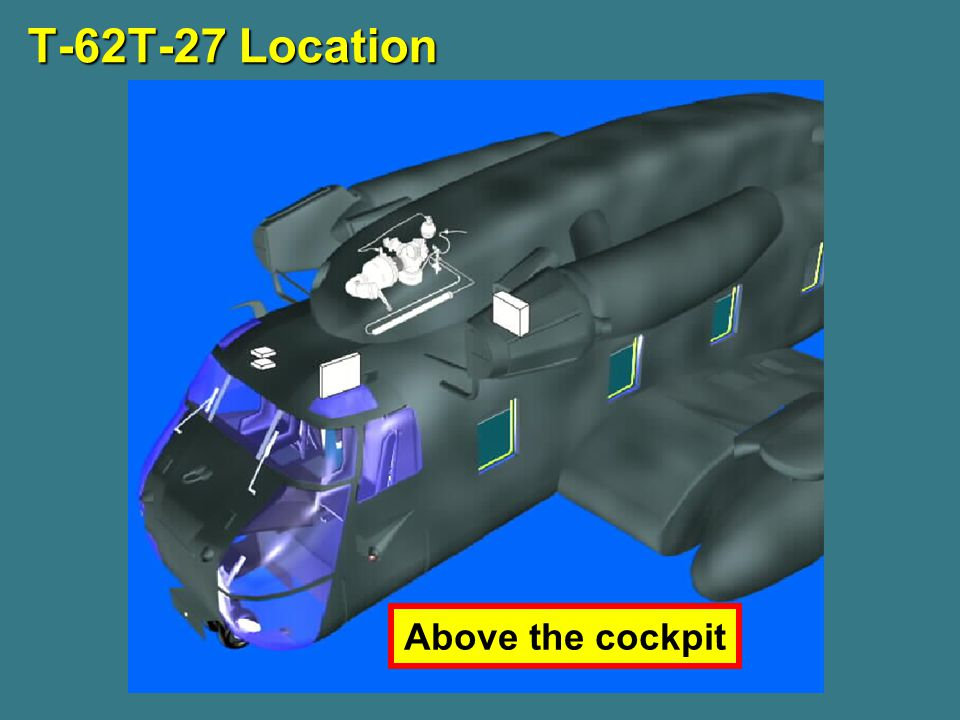 T-62T-27 Location Above the cockpit