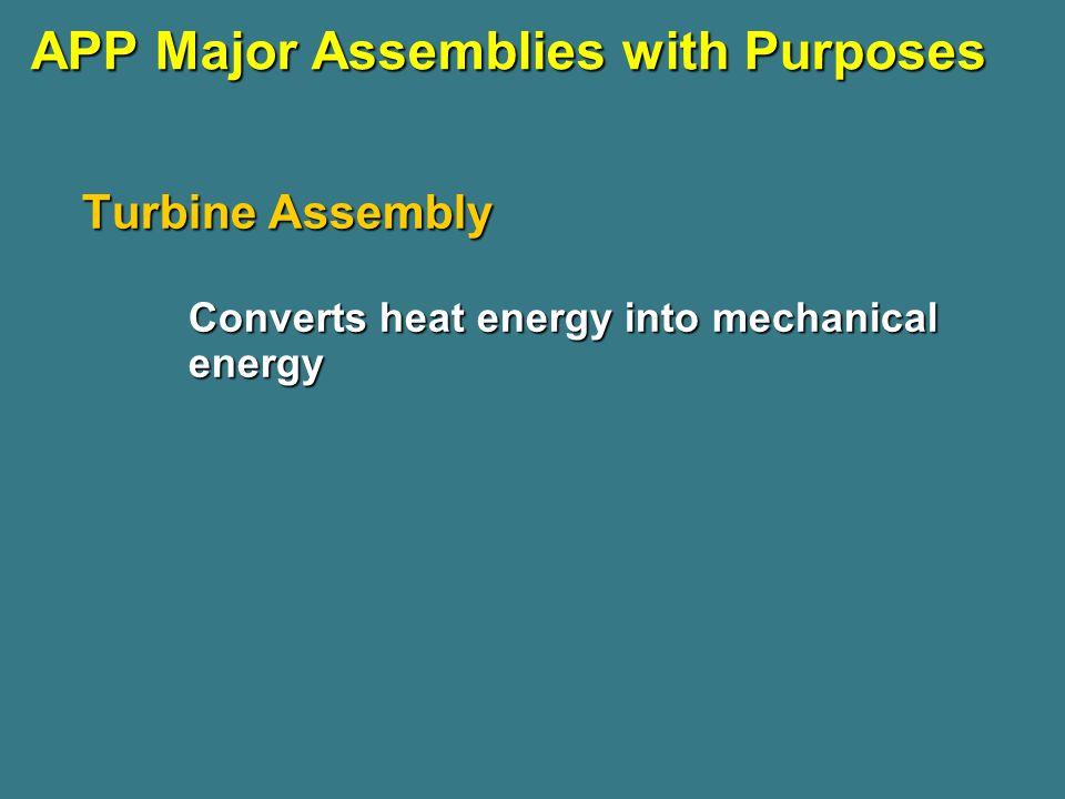 APP Major Assemblies with Purposes