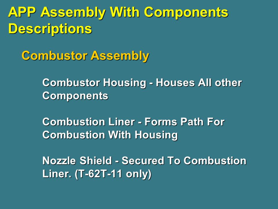 APP Assembly With Components Descriptions