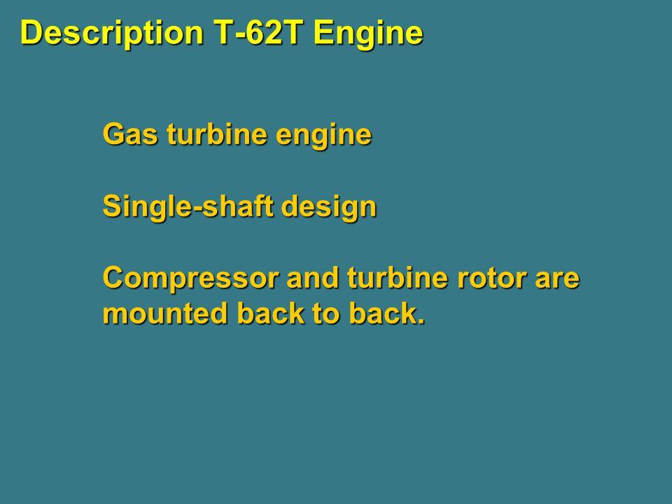 Description T-62T Engine