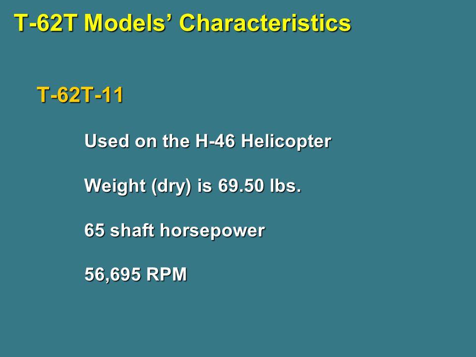 T-62T Models' Characteristics