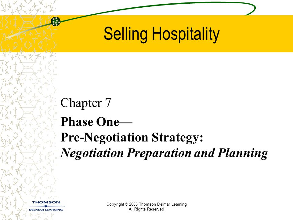 Selling Hospitality Chapter 7
