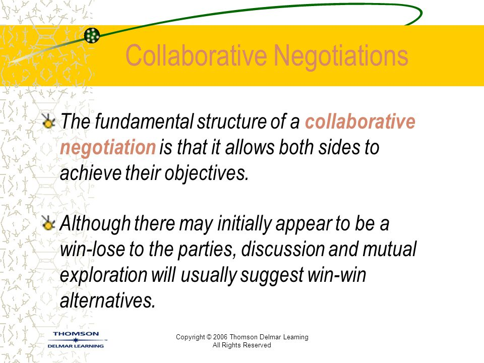 Collaborative Negotiations