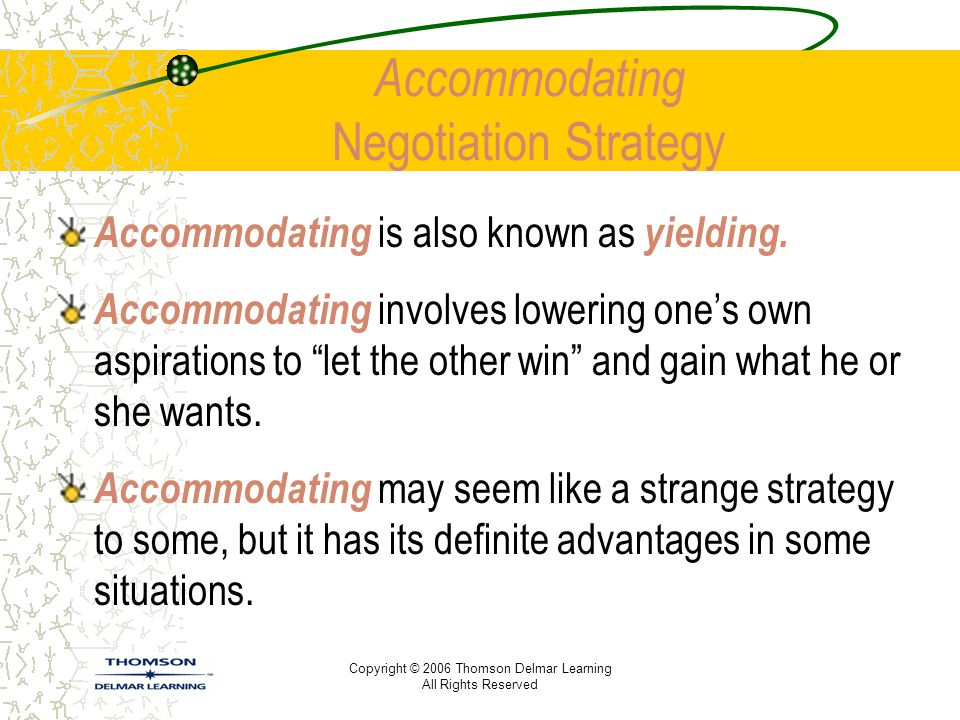 Accommodating Negotiation Strategy