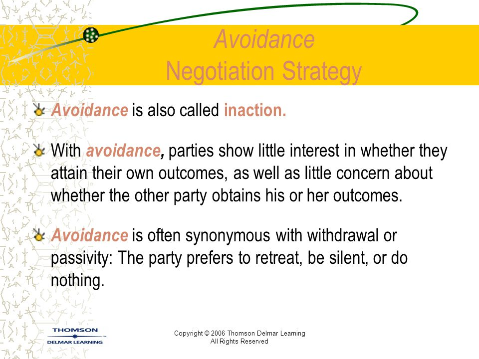Avoidance Negotiation Strategy