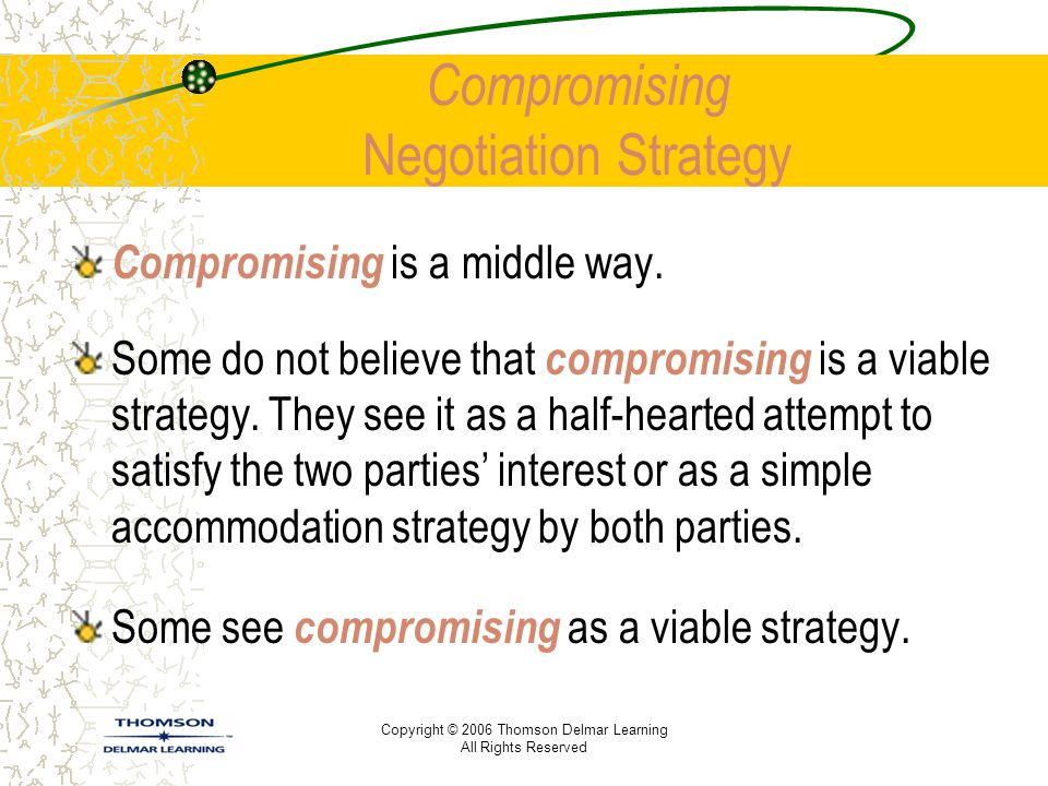 Compromising Negotiation Strategy