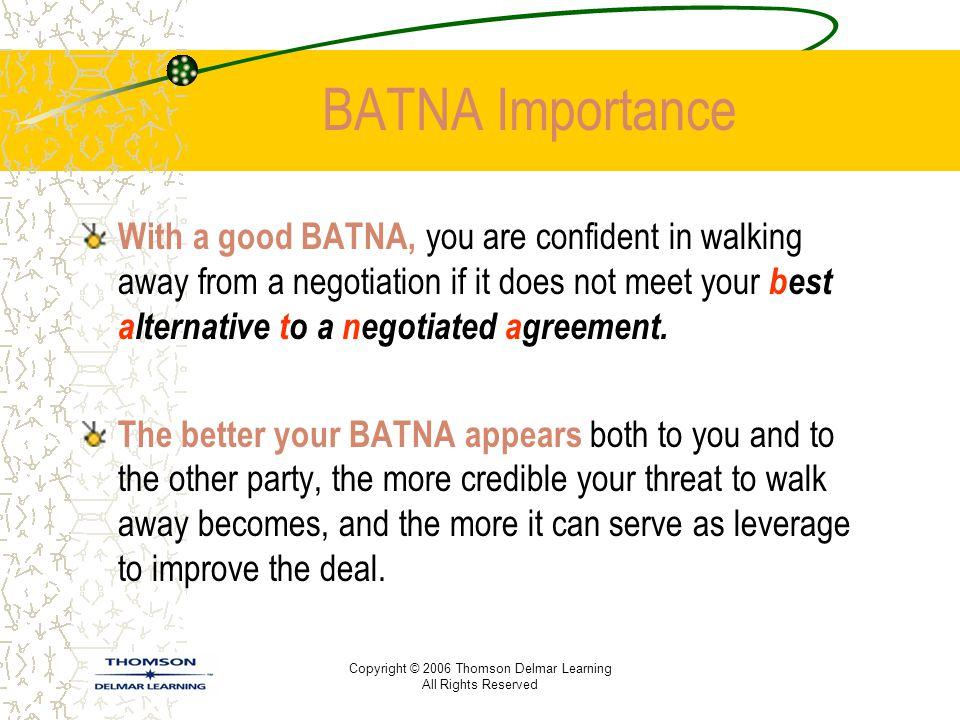 BATNA Importance