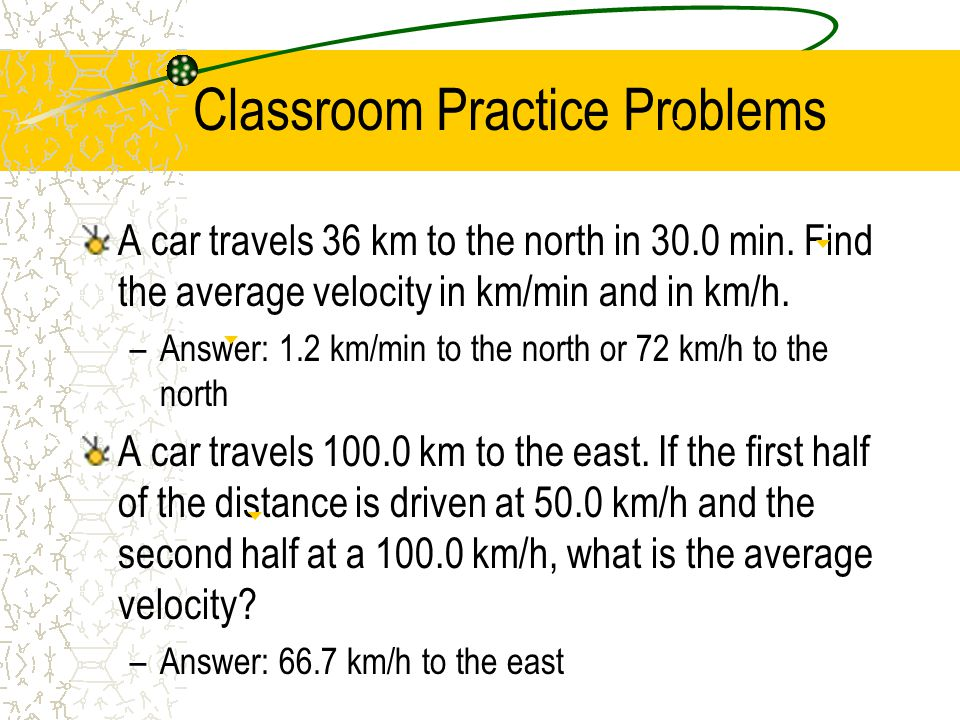 Classroom Practice Problems