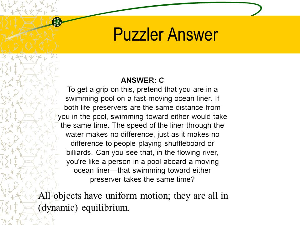 Puzzler Answer ANSWER: C.
