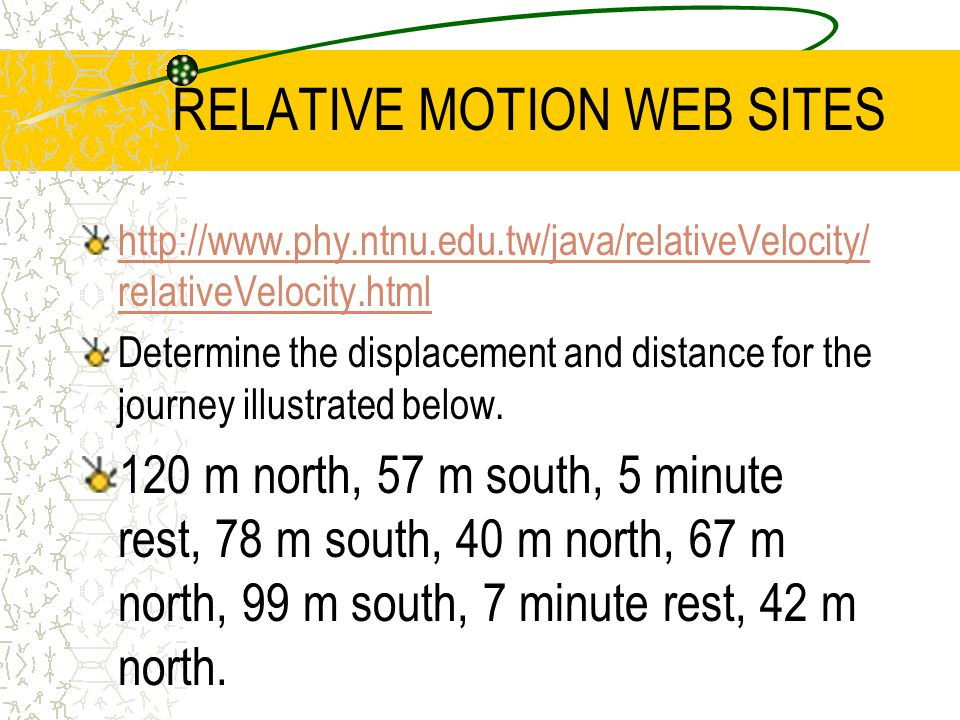 RELATIVE MOTION WEB SITES