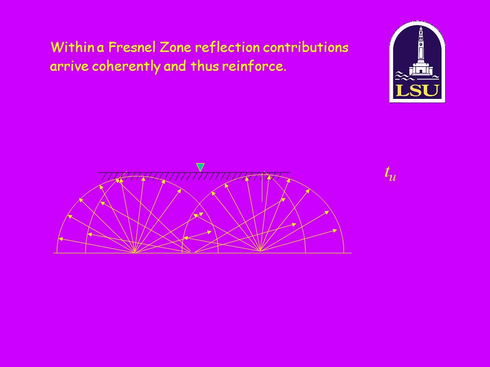 Within a Fresnel Zone reflection contributions arrive coherently and thus reinforce.